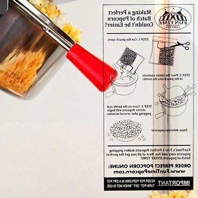 FunTime 8oz Black Table Top Popcorn Popper Maker Machine -