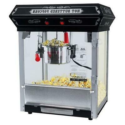 black popcorn popper machine maker