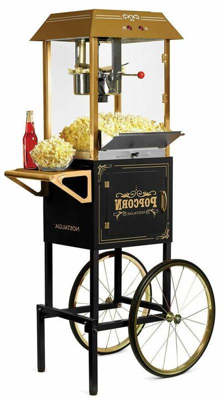 ccp1000blk vintage 10 ounce commercial popcorn cart