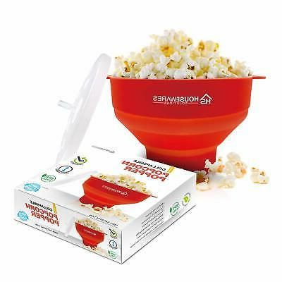 collapsible silicone microwave air popcorn