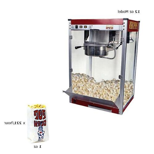 Paragon Theater Pop 12 Ounce Popcorn Machine for Professiona
