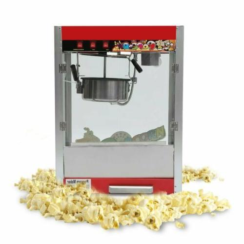 Flat Top Non-Stick Palace Popper Commercial Popcorn Popper M
