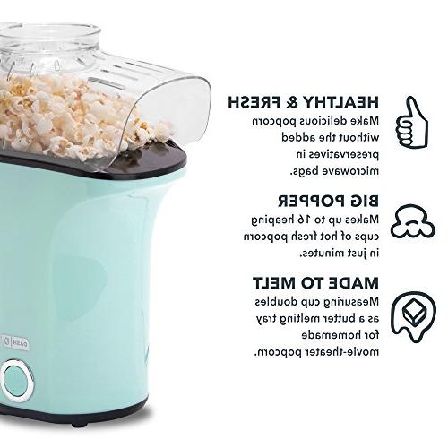 DASH Popcorn Machine: Air Popcorn Popper Popcorn Maker Cup to Measure Popcorn Kernels -