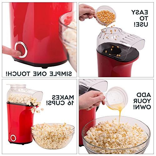 DASH Popcorn Machine: Air Popcorn Popcorn Cup to Measure Popcorn Kernels + -