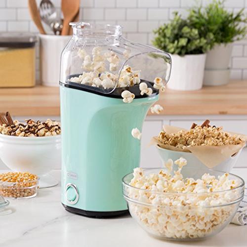 DASH Machine: Air Popcorn Popper + Cup to Kernels + Melt -