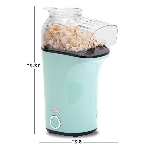 DASH Popcorn Air Popper + Popcorn Maker Cup Kernels Melt Butter -
