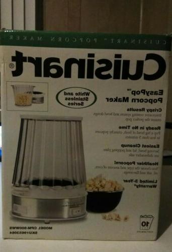 easypop popcorn maker white stainless cpm 900wws