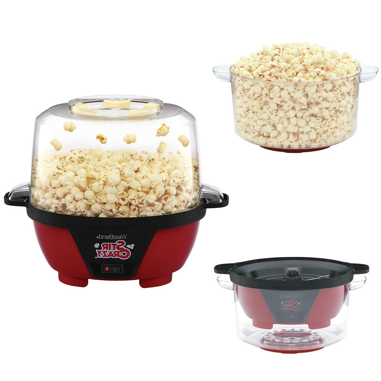 electric hot oil popcorn popper machine eating