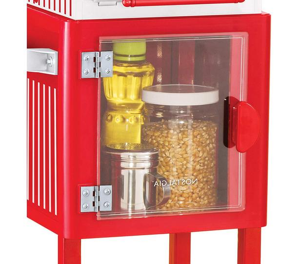Electric Popper Maker Style Kitchen Red