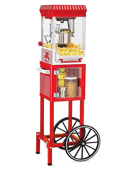 electric popcorn cart machine popper maker stand