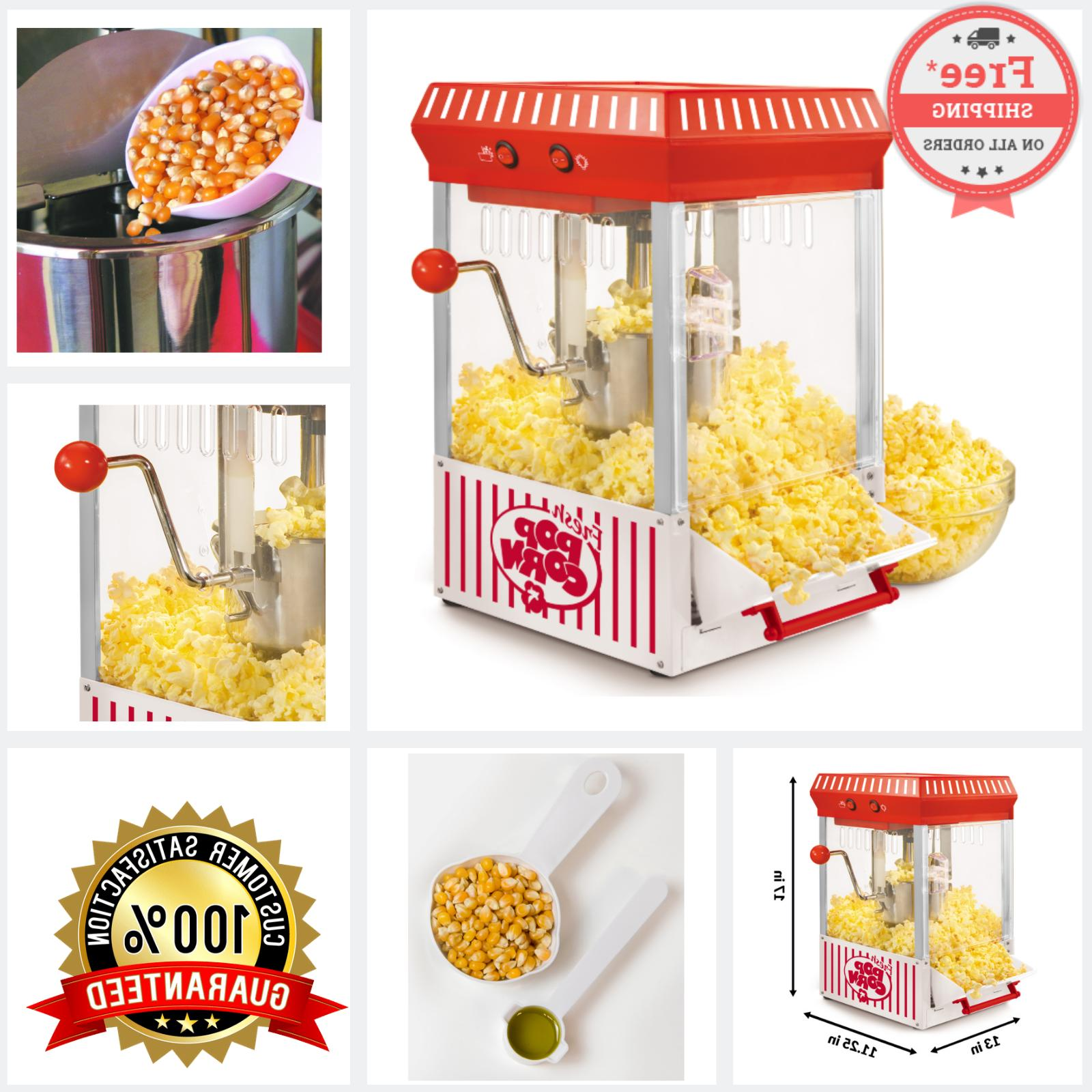 electric popcorn maker kettle corn popper hot