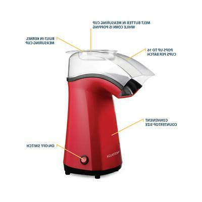 Electric Popcorn Popper Hot Air Kernels Maker Portable Table
