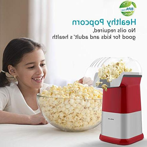 OPOLAR Hot Popcorn Popper Oil Maker Measuring Cup Removable Top Watching and Parties