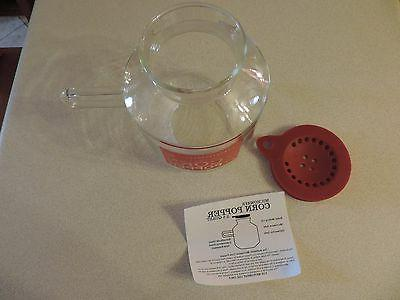 Catamount Flameware 2.5 Microwave Popcorn Instructions / NEW