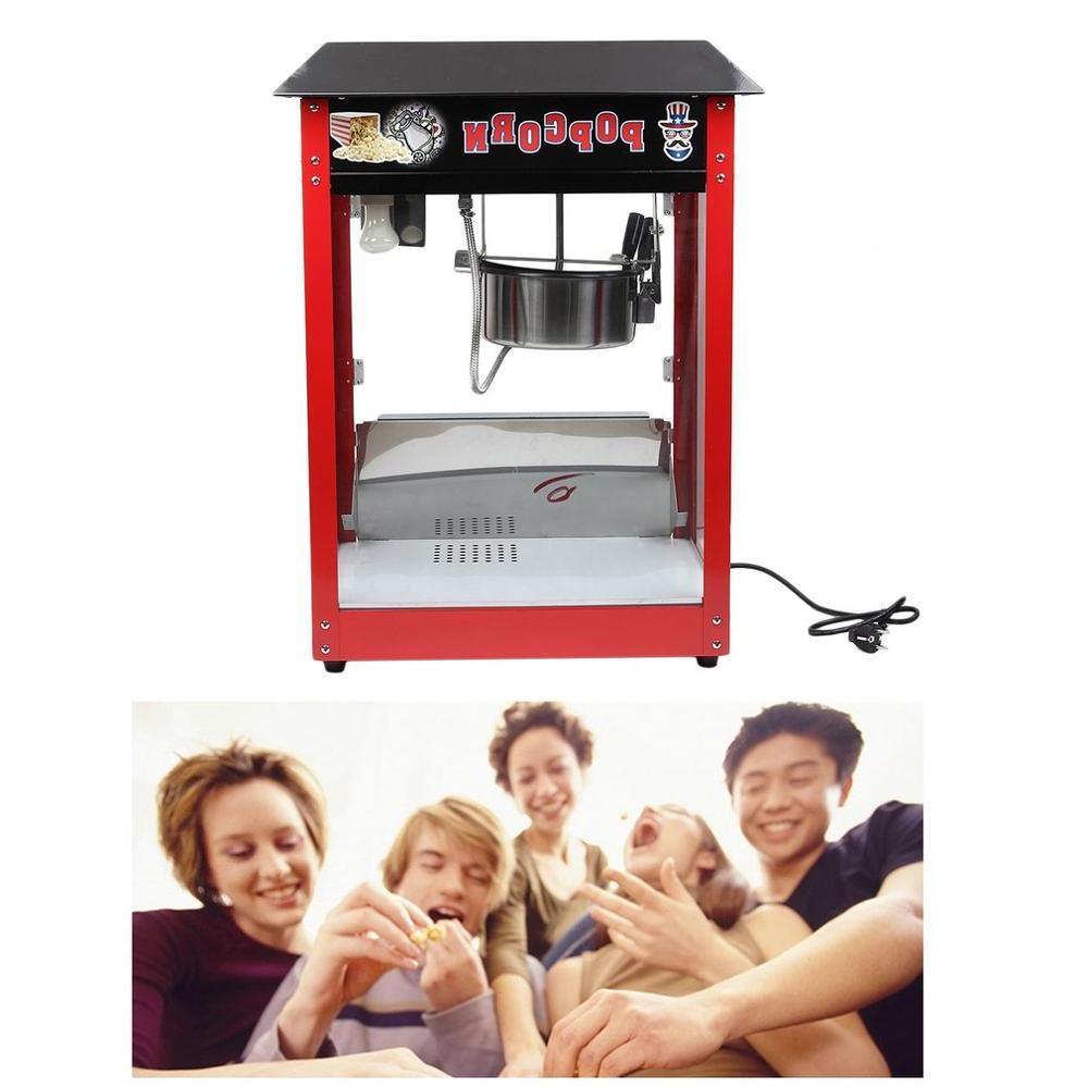 <font><b>8OZ</b></font> 1300W <font><b>Popcorn</b></font> Machine Bar Table Cooker 230V Multi-Function Control Switches