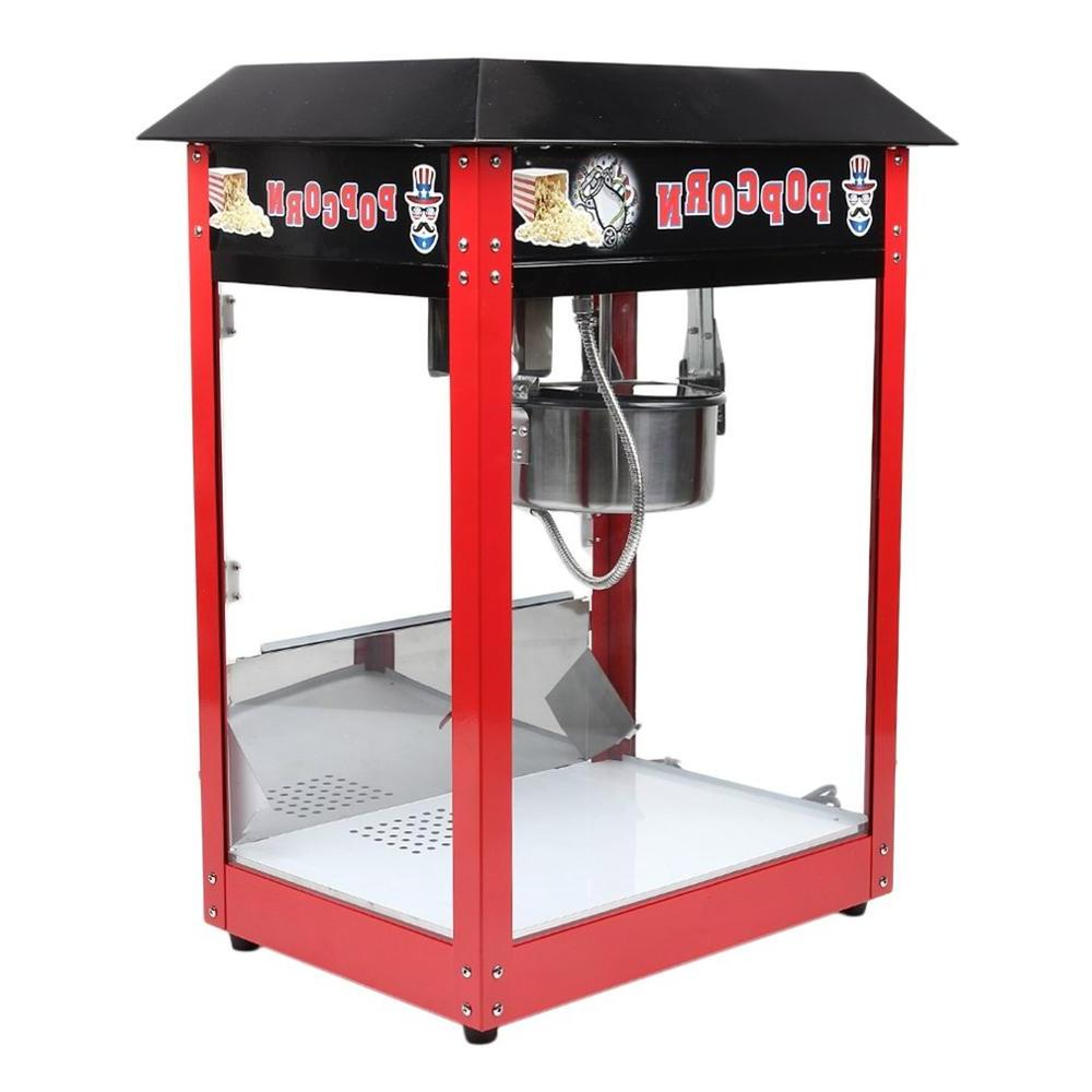 <font><b>8OZ</b></font> Commercial 1300W <font><b>Popcorn</b></font> Maker Bar Table Corn Cooker 230V Control Switches