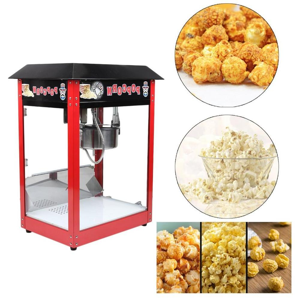 <font><b>8OZ</b></font> Commercial <font><b>Popcorn</b></font> Maker Table Cooker With Control Switches