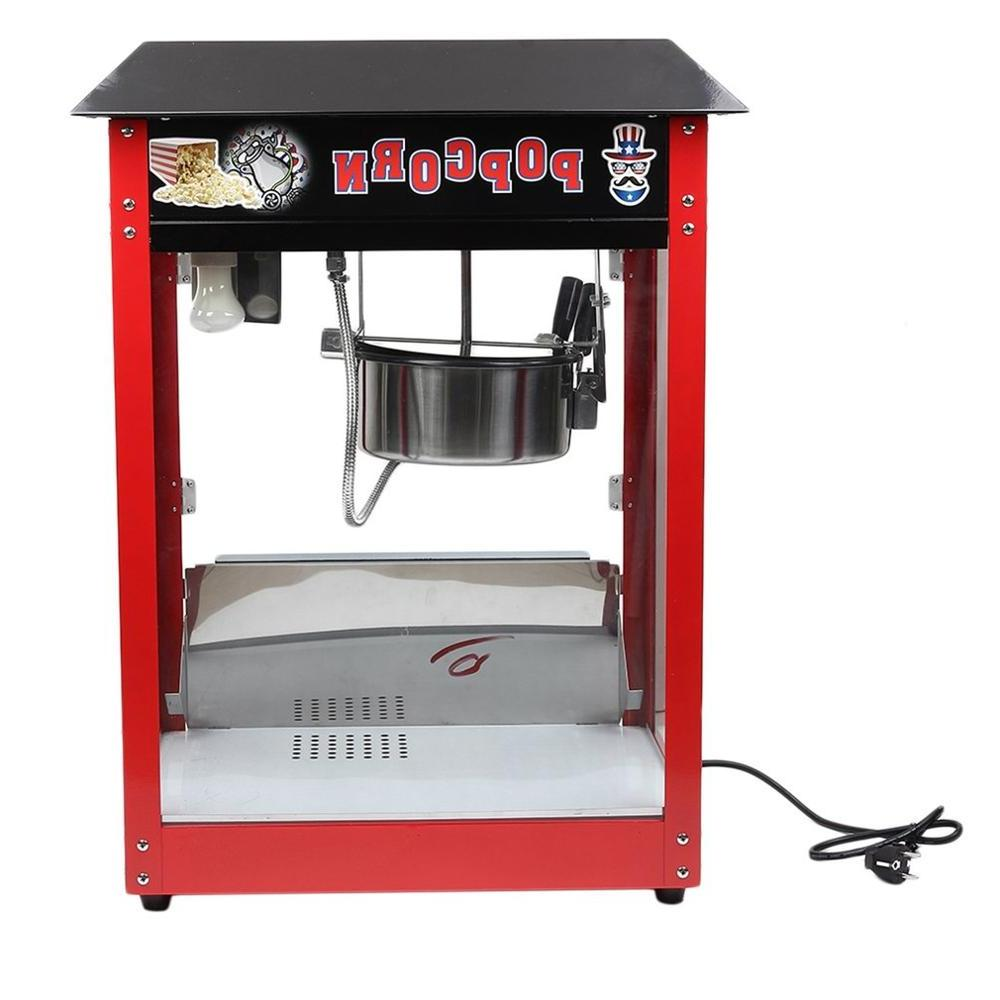 <font><b>8OZ</b></font> Commercial <font><b>Popcorn</b></font> Machine Maker Table Top Corn Cooker 230V Control Switches