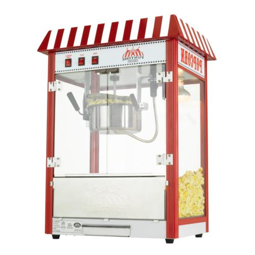 Funtime FT8000CP 8 OZ Commercial Carnival Bar Style Popcorn