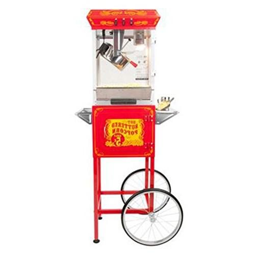 Hot Oil Popcorn with Cart