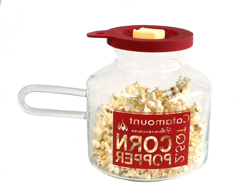 glass microwave 2 5 qt popcorn corn