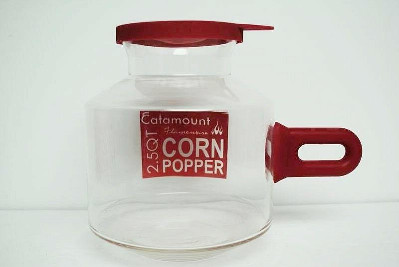 Catamount Corn Popper, Silicone Classic Red