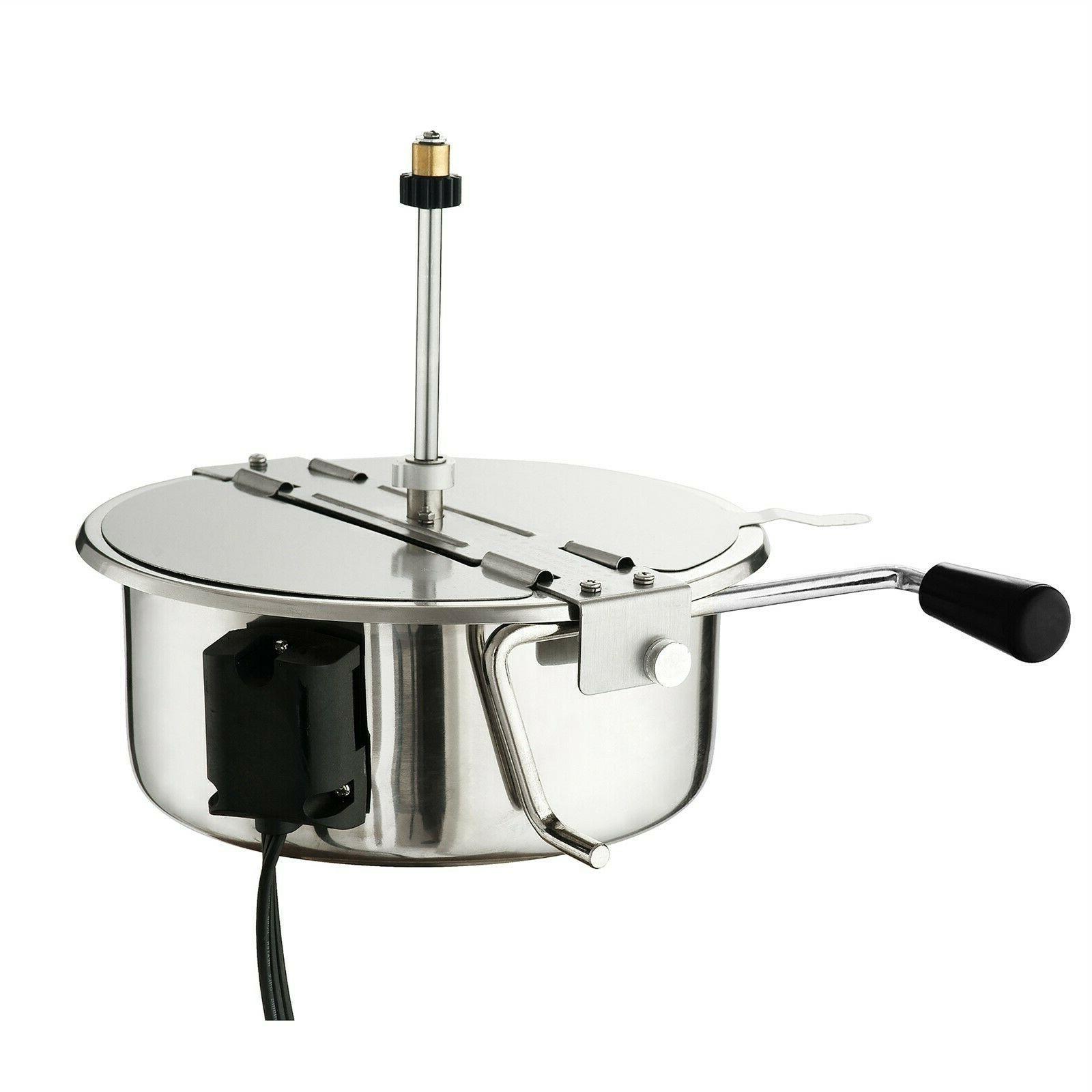 Great Black Countertop Popcorn Machine, 8 Ounce