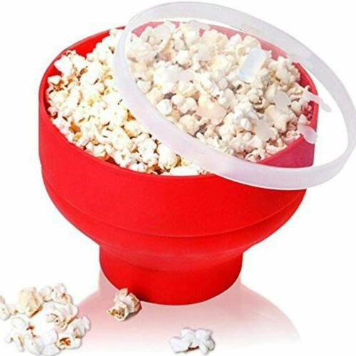 Healthy Silicone Popcorn Microwave Popper Bowl BPA Free