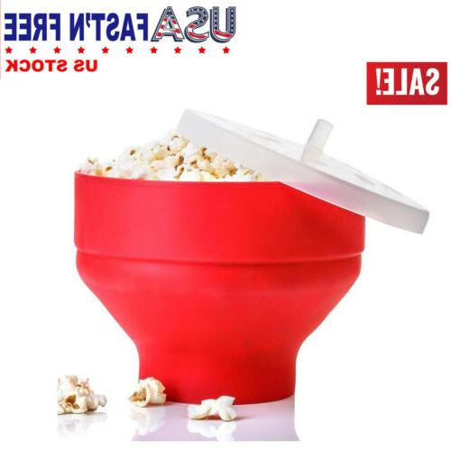 healthy silicone popcorn microwave popper maker bowl