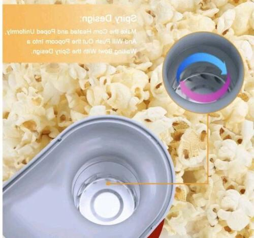 Hot Air Popcorn Machine Tabletop Snack w/ Cups