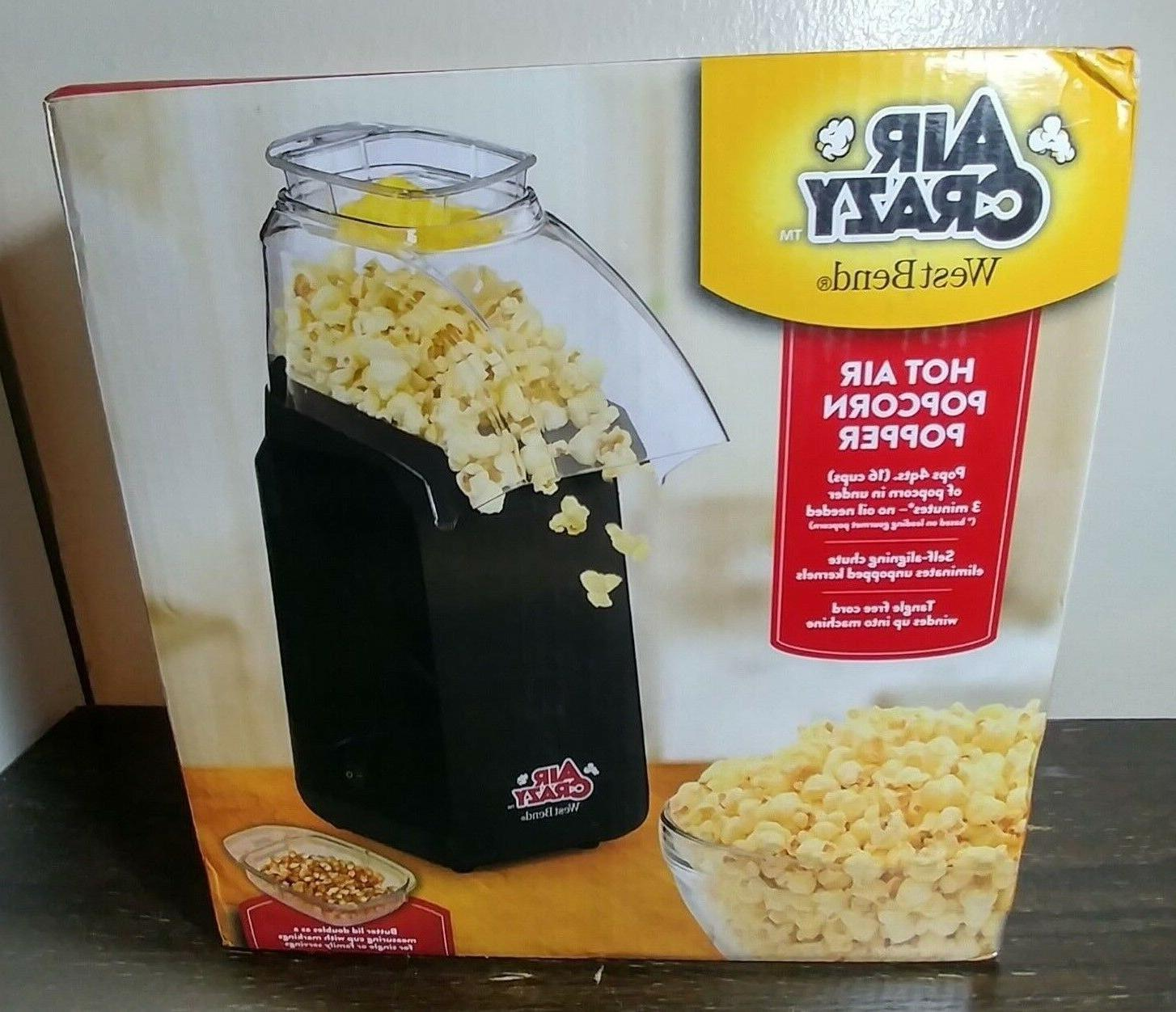 hot air popcorn popper color black 82418bk