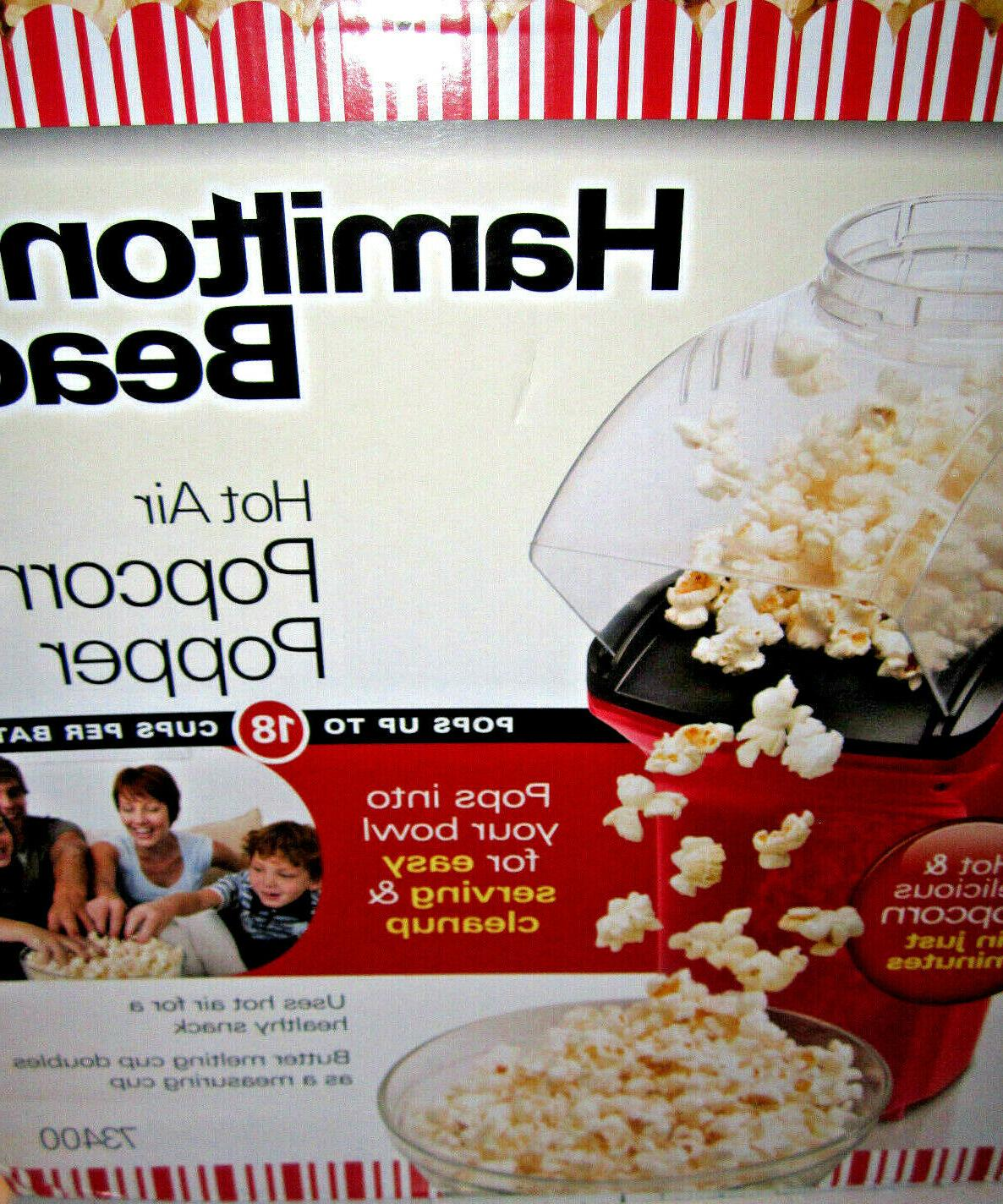 hot air popcorn popper in red