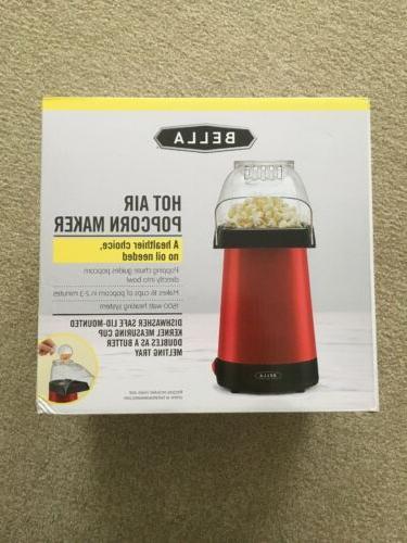 hot air popcorn popper maker red