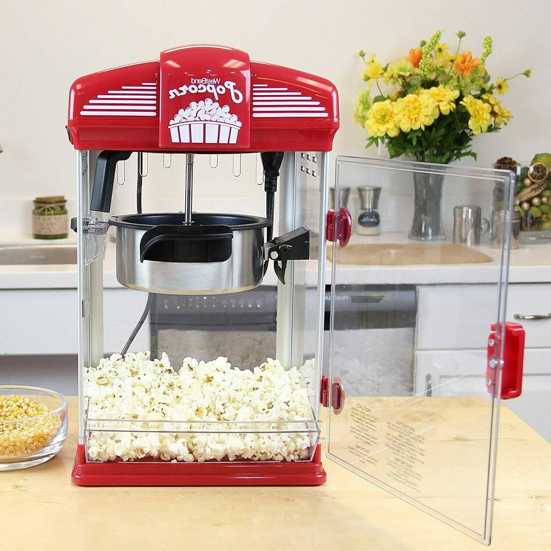 Hot Popcorn Machine Movie Style With Kettle 4Quarts