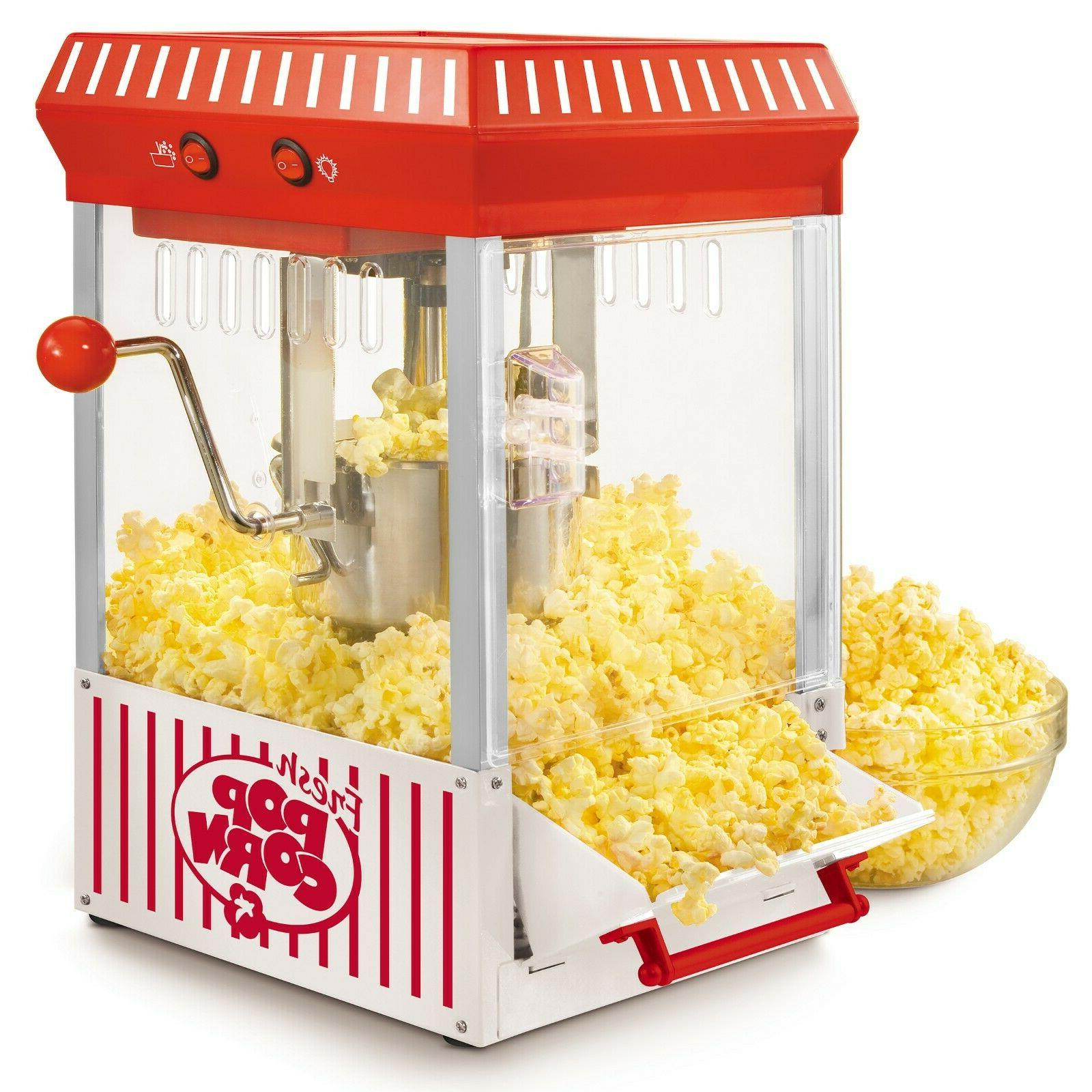 Vintage Nostalgia POPCORN MACHINE Popper Maker Retro Look Ke