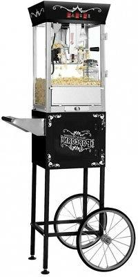 Matinee Movie Bar Style Popcorn Machine in Black