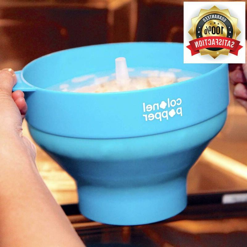 Colonel Maker Popper Silicone Bowl Use Kernel
