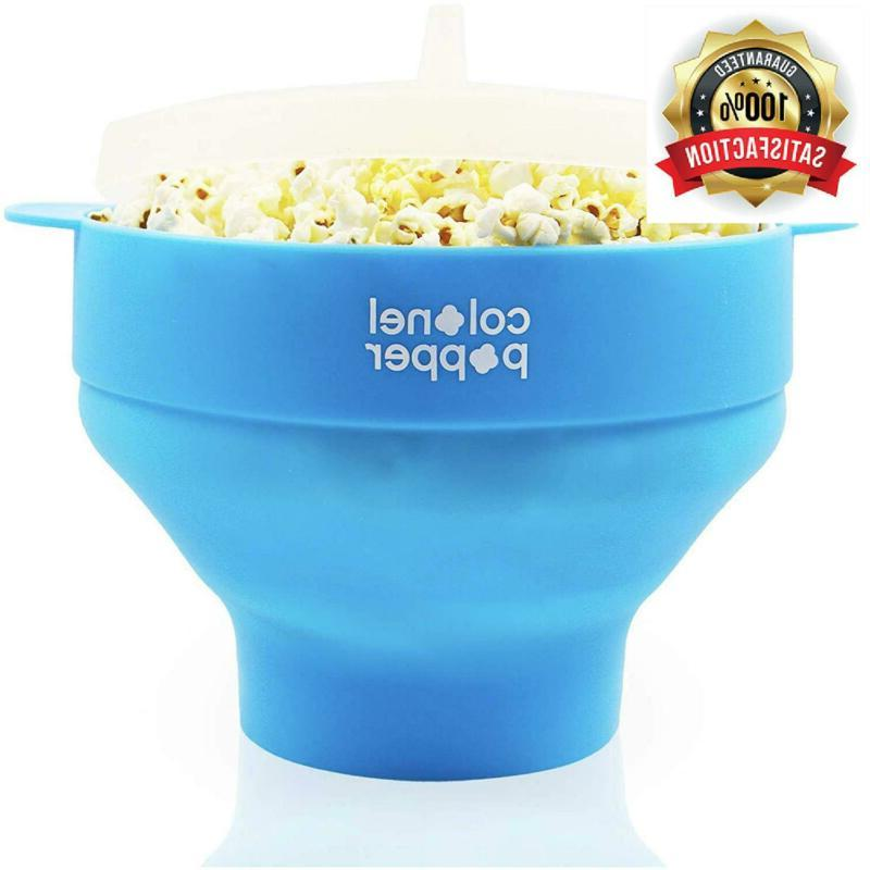 microwave popcorn maker air popper silicone bowl