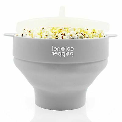 microwave popcorn maker no oil healthy silicone