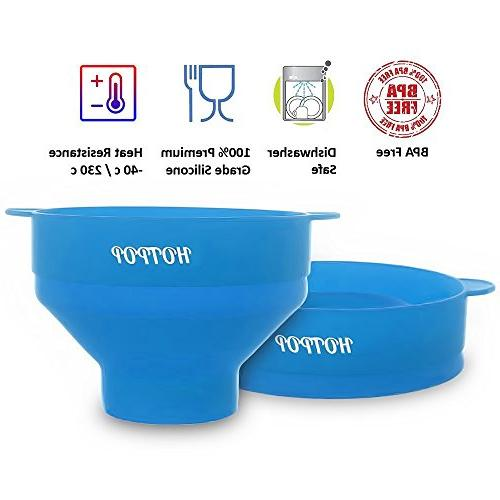 The Original Microwave Popcorn Popper, Silicone Popcorn Maker, Collapsible BPA Free Dishwasher