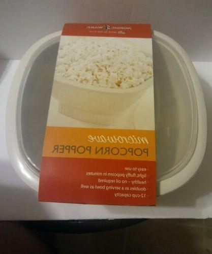 microwave popcorn popper 12 cups 60120 white