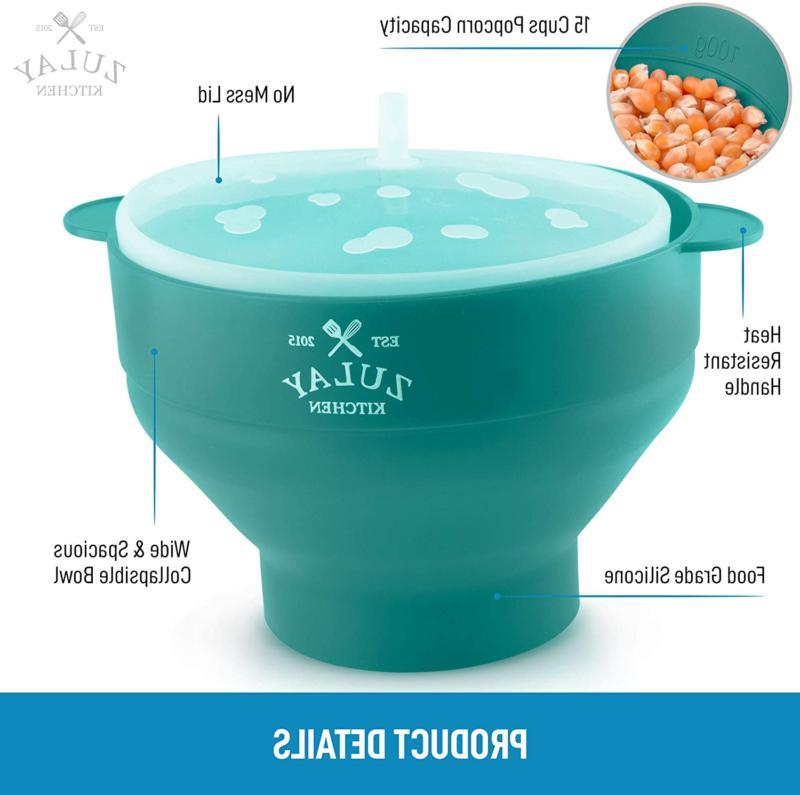 Zulay Popper BPA Silicone Popcorn