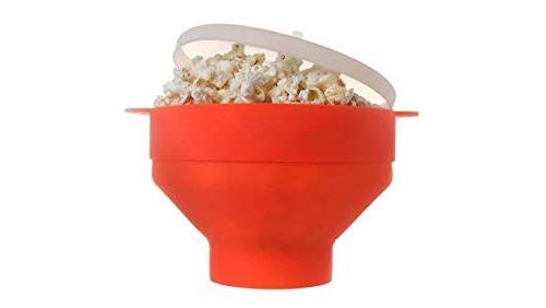 microwave popcorn popper collapsible silicone