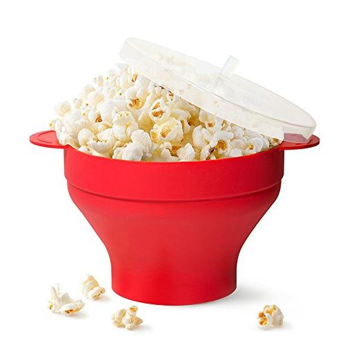 microwave popcorn popper collapsible