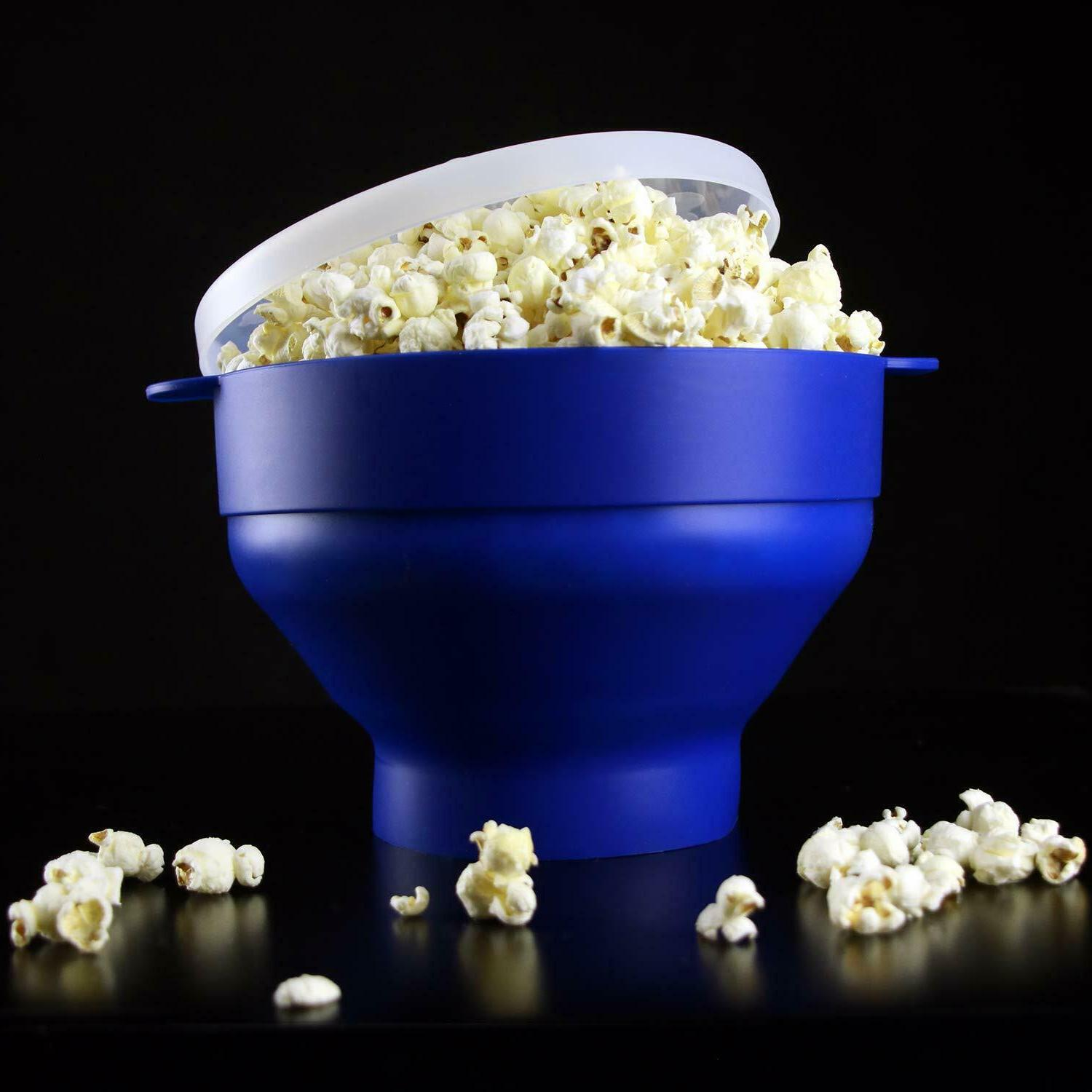 microwave popcorn popper maker collapsible bowl
