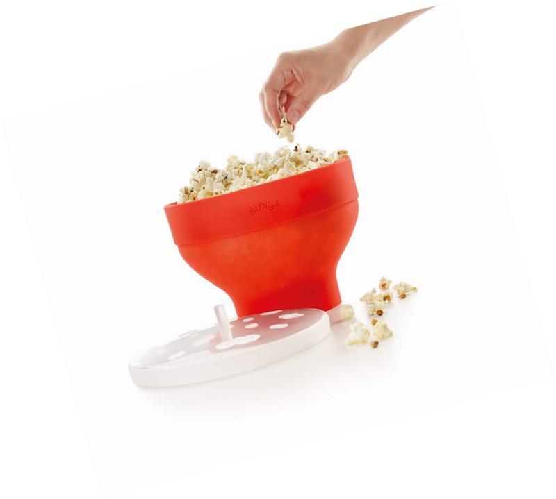 Lekue Microwave Popper/ Maker, Red