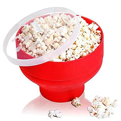 microwave popcorn popper silicone foldable