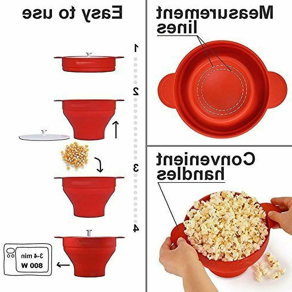 Microwave Popcorn Popper Maker Original Salbree Lid