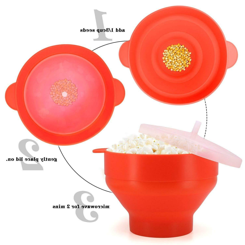 Microwave Popcorn Popper Maker Original Salbree