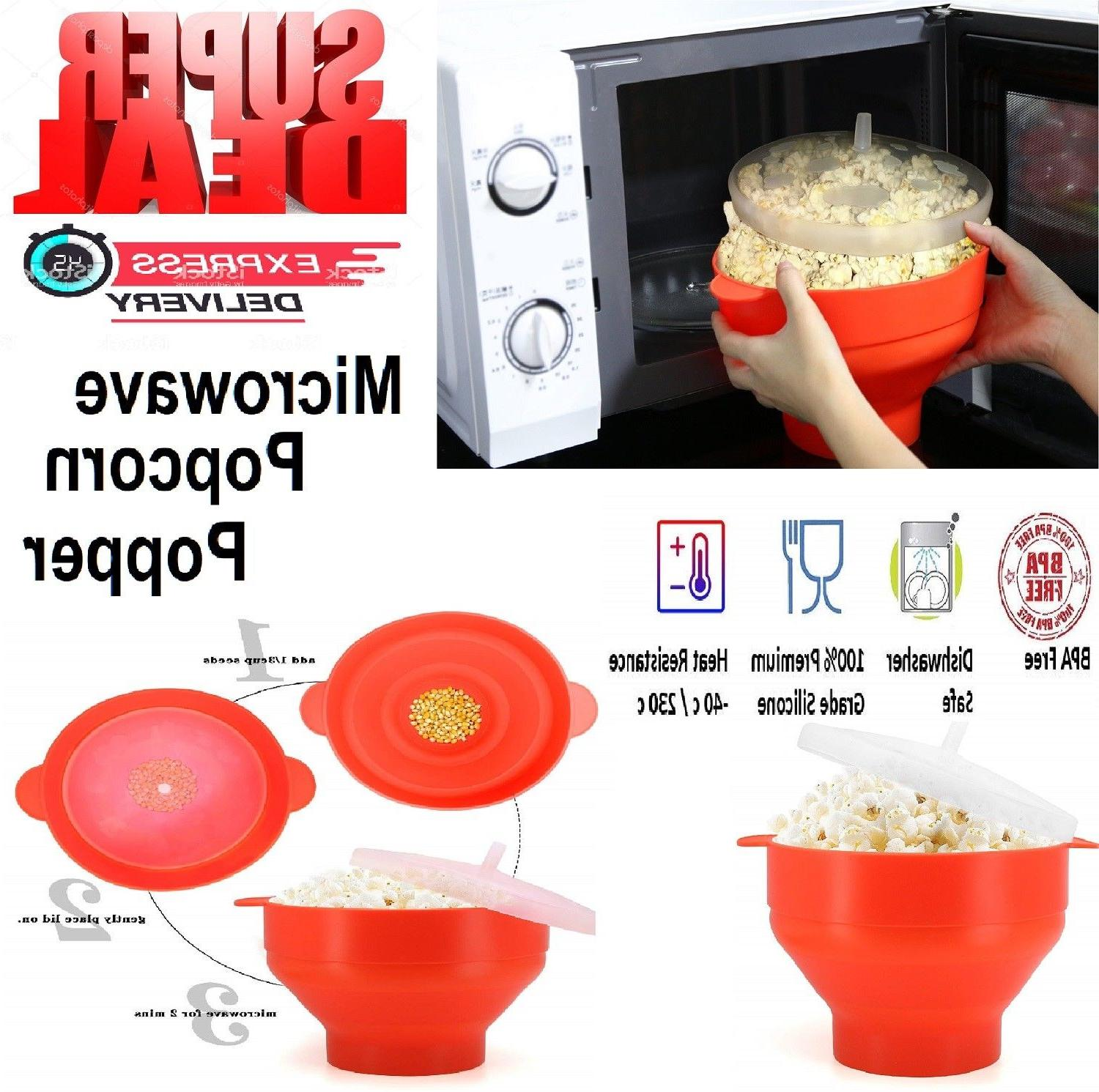 microwave popcorn popper silicone maker original collapsible
